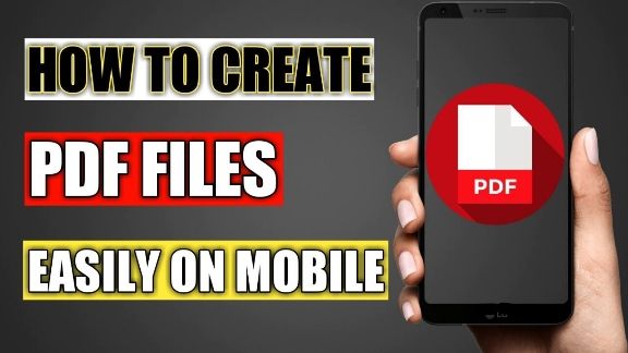 How to make PDF in mobile - PDF document file creation