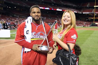 Prince Fielder Sharing Happy Moments With His Wife Pic