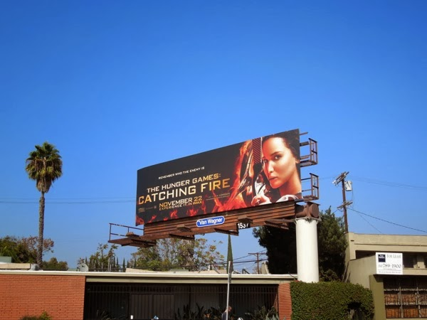 Katniss Catching Fire billboard