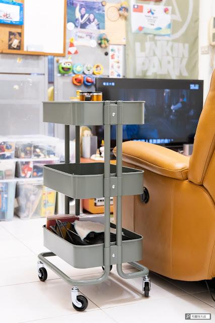 【大叔生活】居家生活大改造 (feat. IKEA & Nitori) - IKEA 推車 (RÅSKOG) 改為邊桌使用