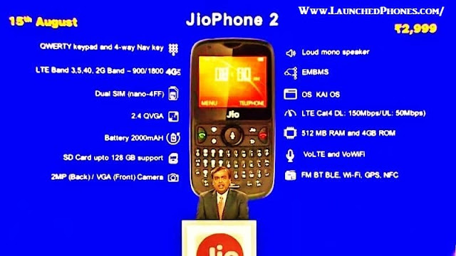 If you lot hold off at the blueprint of this telephone Jio Phone2 2018 launched amongst telephone commutation offering