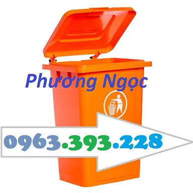 Thùng rác nhựa 90L nắp kín, thùng rác 90 Lít công cộng, thùng rác nắp kín TR90LNK1