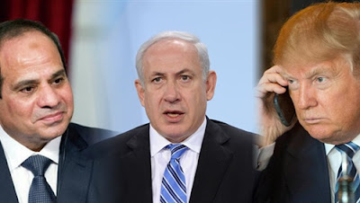 نتنياهو وترامب و الرئيس السيسي