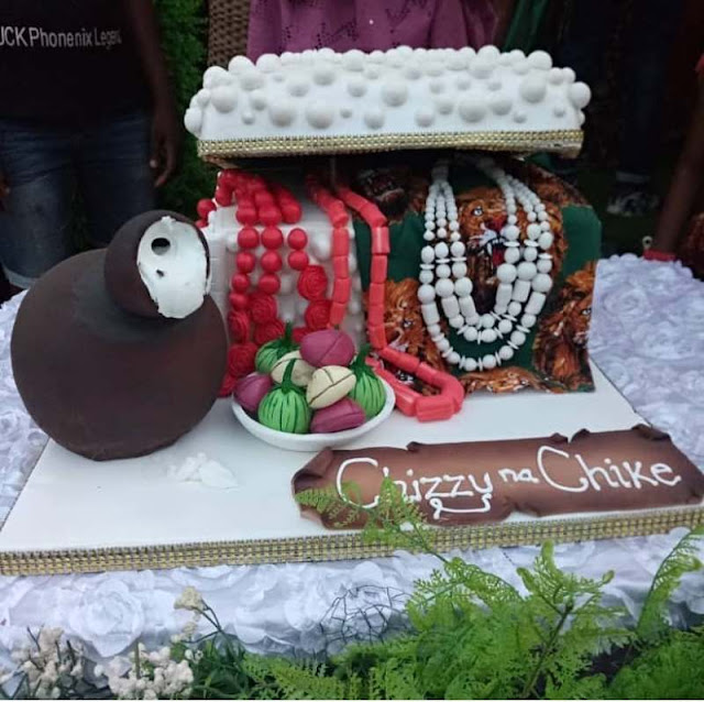 Check out the Igbo traditional wedding cake from Chizzy Alichi's Igba Nkwu