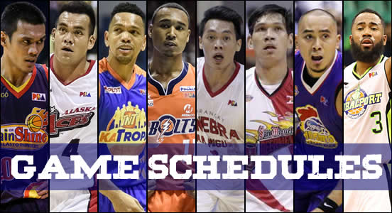 LIST: Game Schedules Quarterfinals 2018 PBA Commissioner's Cup