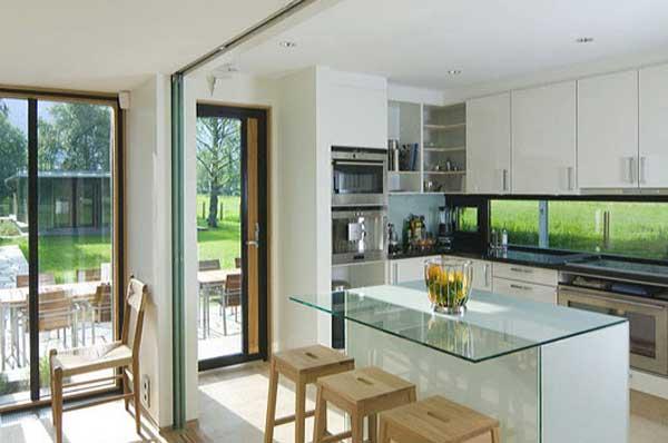 Scandinavian Modern Glass House Green Home Design on Modern Glass House Design  id=91560