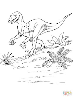 Baby Compsognathus Coloring Pages