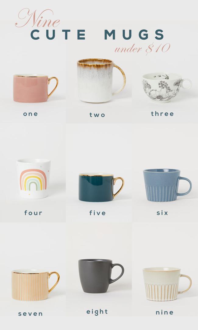 9 Cute Mugs Under $  9