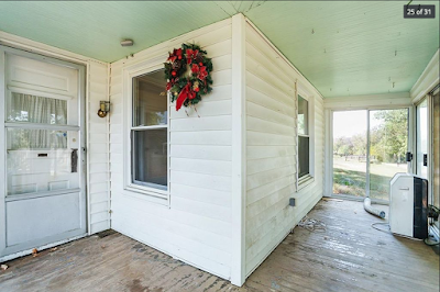 enclosed front porch on Sears Silverdale kit house at 1793 Ruddles Mills Rd Paris Kentucky