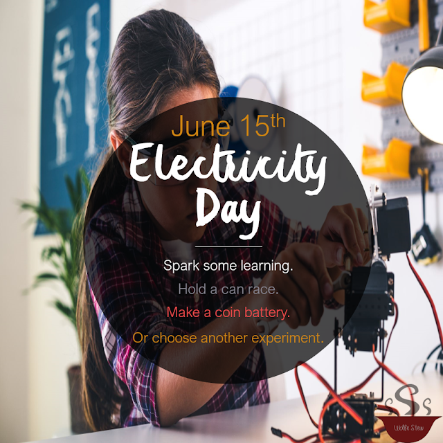 June 15, 2020, can races, penny batteries, and other electricity experiments