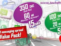 Messaging package (SMS and Internet data) offer for Robi customer