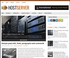 HostServer 2 Column Blogger Template