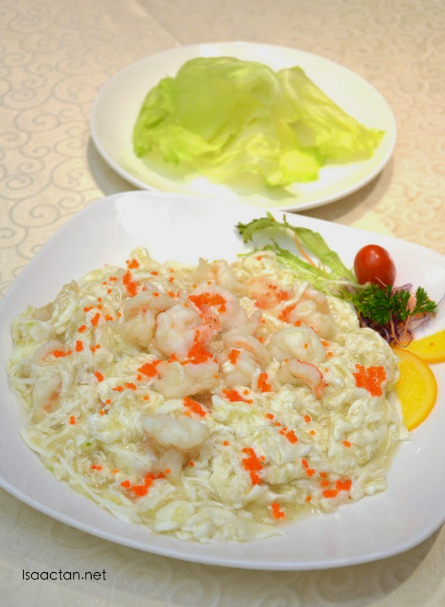 Stir Fried Large Prawns in Egg White