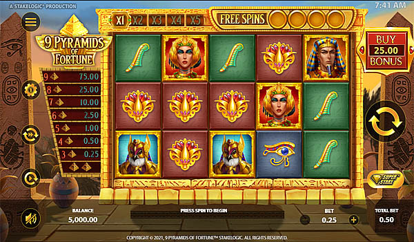 Main Gratis Slot Indonesia - 9 Pyramids Of Fortune Stakelogic