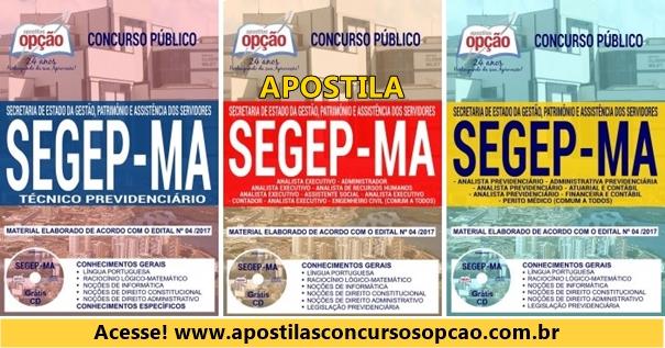 Apostila Segep 2018 Técnico Previdenciário