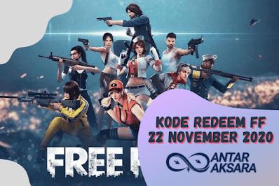 Kode Redeem FF 22 November 2020