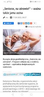Katarzyna Obarska Kielce seniorze, na zdrowie