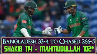 Bangladesh 33-4 to Chased 266-5 - New Zealand vs Bangladesh 9th Match ICC CT 2017 Highlights