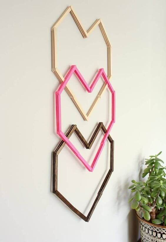 Easy crafts made with an ice cream stick