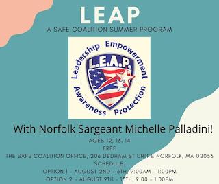 Hey middle schoolers! SAFE Coalition summer camp registration is open