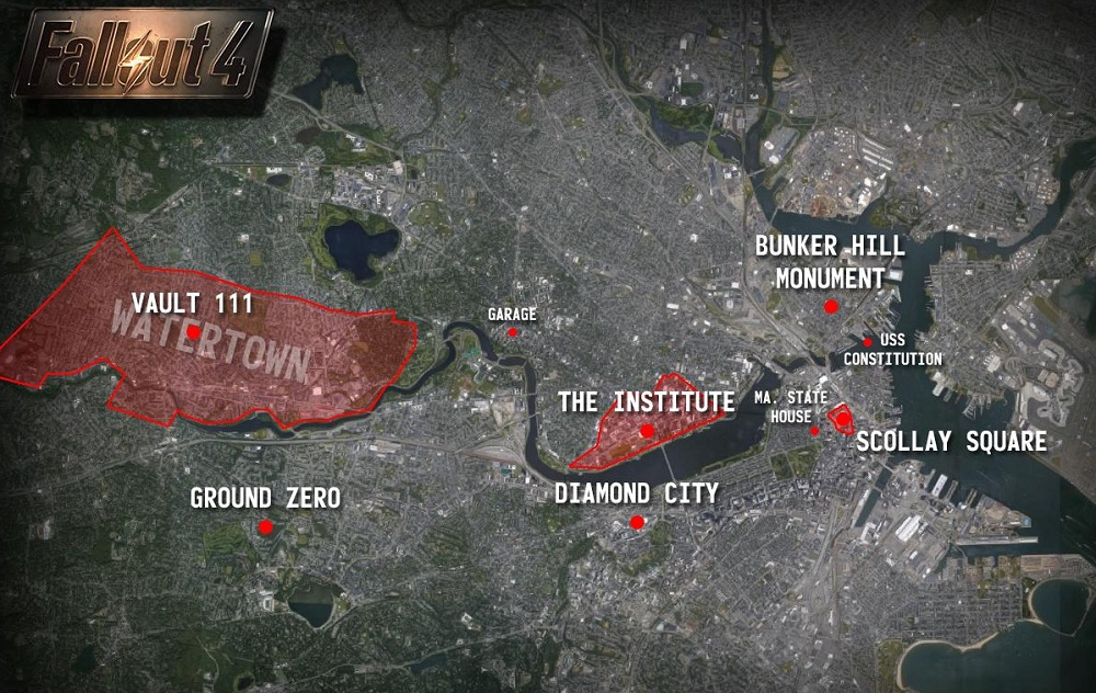 FALLOUT 4 MAP OF BOSTON