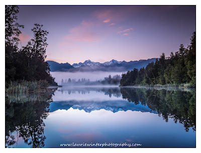 Lake Matheson, Sunrise, West Coast