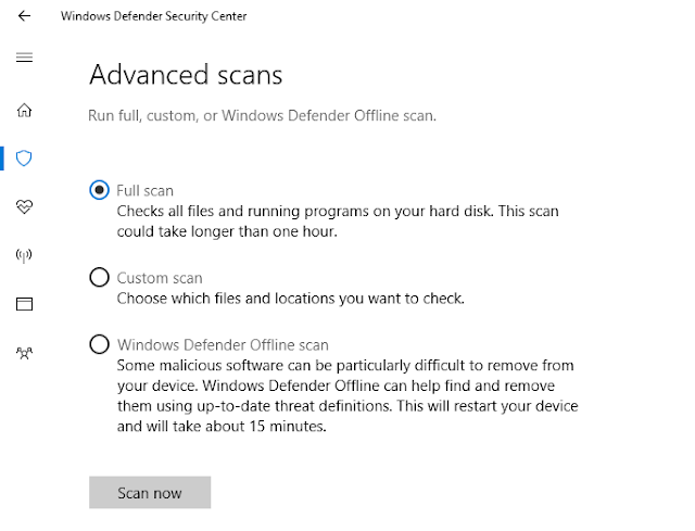 disk usage 100 windows 10 Scan Virus
