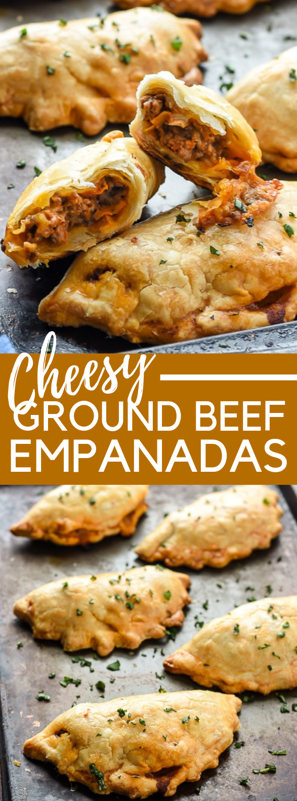 Cheesy Ground Beef Empanadas #dinner #summer