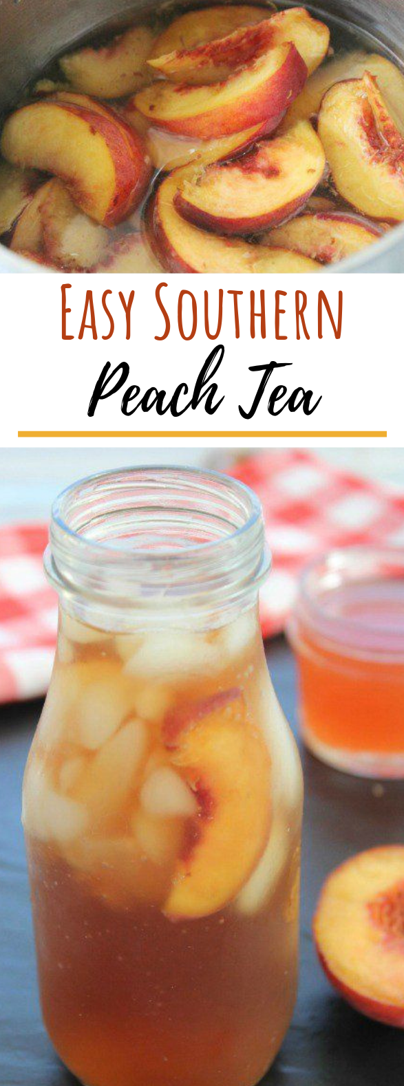 Easy Southern Peach Tea #drinks #cocktails
