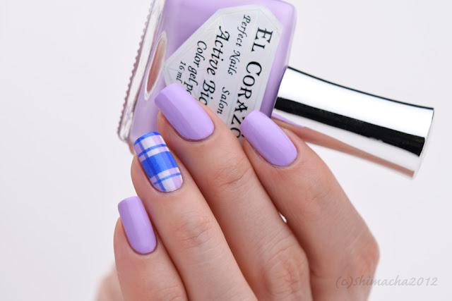Plaid Nails, airbrush nail, チェック柄ネイル, エアブラシ