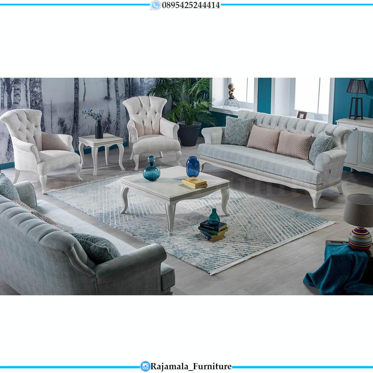 Sofa Tamu Minimalis Putih Duco Furniture Jepara Luxury RM-0615