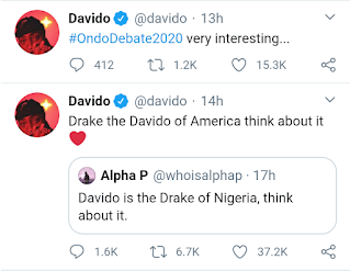 'Drake Is The Davido Of America, Think About It' – Davido Brags