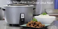 Cara Pakai RiceCooker
