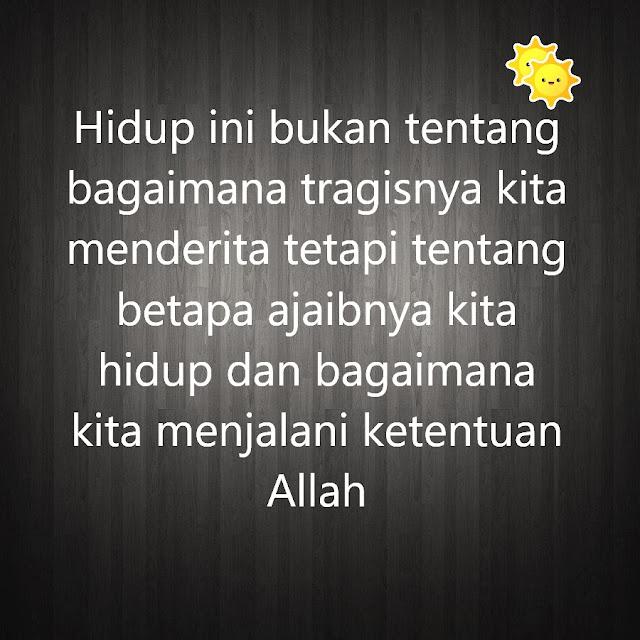 kata mutiara islam ketentuan Allah