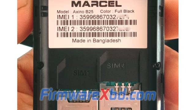 Marcel Axino B25 Flash File