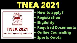 TNEA Registration 2021
