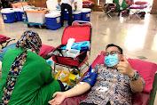 Dukung Aksi Peduli Sosial, Ketua Marcab LMP Jakbar Ikut Donor Darah