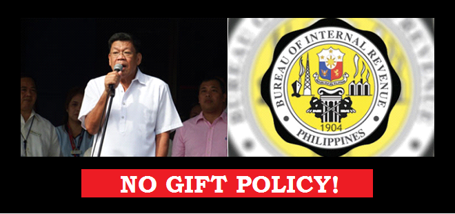 BIR bars gifts upon implementation of 'no gift policy'