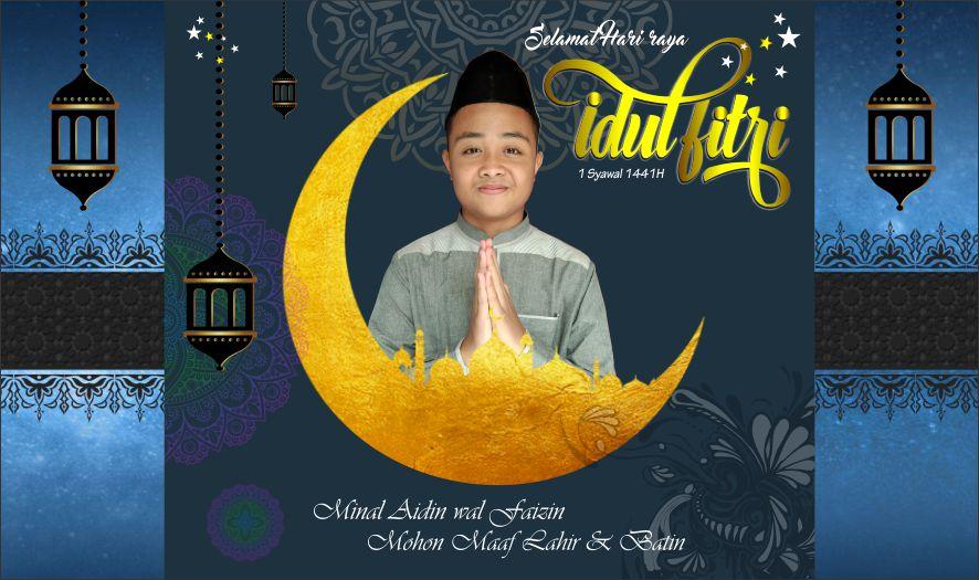 Desain Template Kartu Ucapan Hari Raya Idul Fitri dengan ...