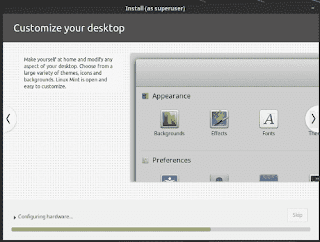 Linux Mint 19 Tara installation slide show customize desktop