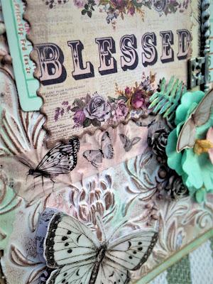 Sara Emily Barker http://sarascloset1.blogspot.com/ Prima Havana Shabby Chic Card #prima #havana #lavender #rosegoldwax #timholtz #3D embossing #botanicaltexturefade 5