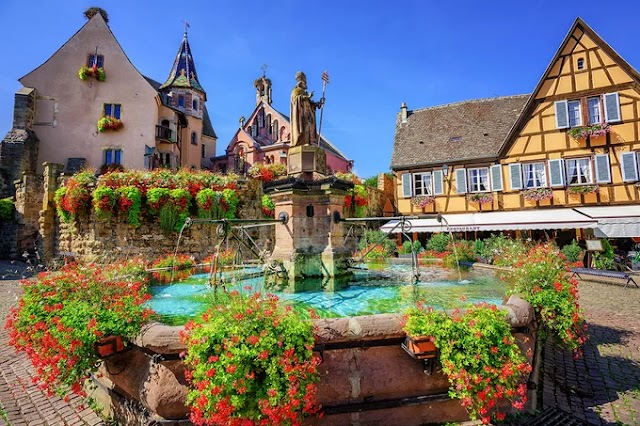 Picturesque village in France