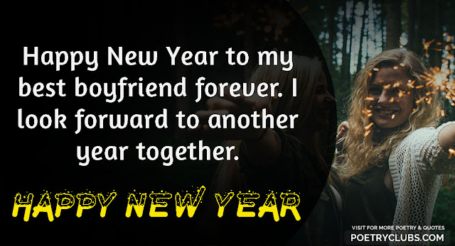 Happy New Year 2020 Wishes for Girlfriend / Wife - New Year images