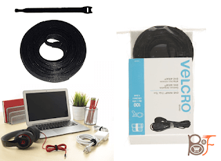 The Thin Self-Gripping Cable Ties of VELCRO Brand, Reusable, Light Duty, Black Model