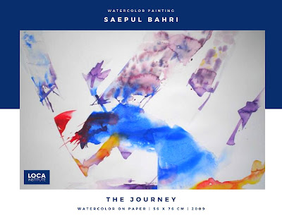 karya saepul bahri watercolor the journey