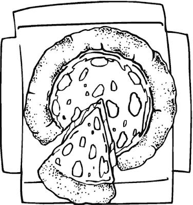 Gambar Mewarnai Pizza - 3