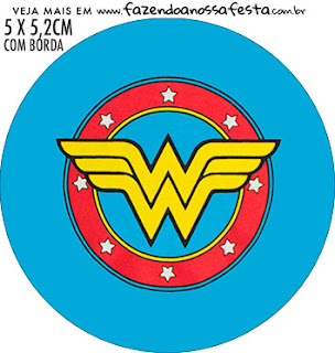 Wonder Woman Afro Free Printable Cupcake Wrappers and Toppers.