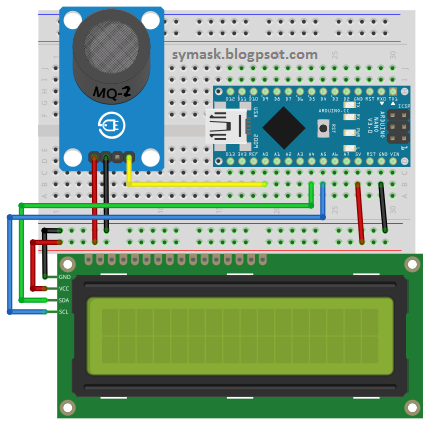 Cara Menggunakan Sensor MQ2 dan LCD - Symask - Belajar Arduino
