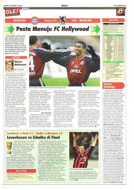 MUENCHEN VS 1860 MUENCHEN PESTA MENUJU FC HOLLYWOOD
