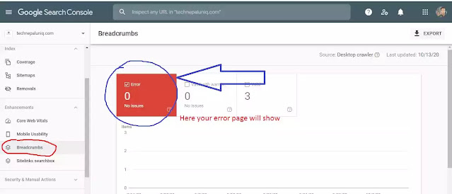 how to fix breadcrumbs error google search console